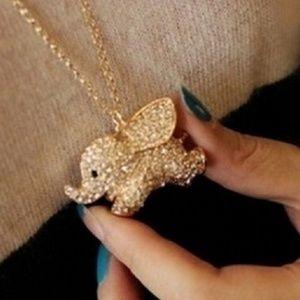 Cute Gold Baby Elephant Pendant